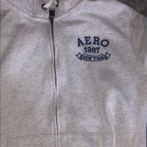 aeropostale light gray hoodie